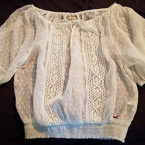 Hollister White Blouse Size Small